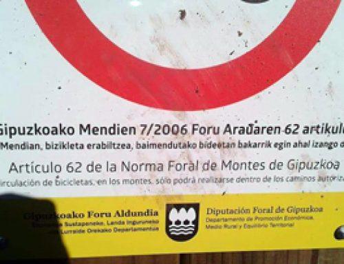 Prohibición MTB en Aiako Harria Parke Naturala